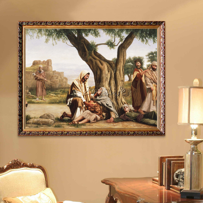 Home Interior Jesus: Home Decor Jesus Christ Painting Jesus Save Us Art Decor