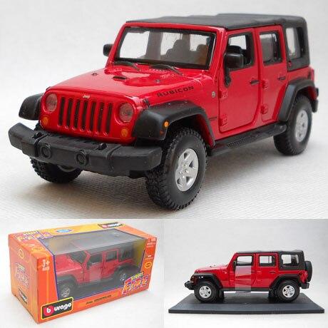 Burago / Jeep Wrangler Soft Top 1:32 Modelos De Carros De Liga Decorado  Coleção