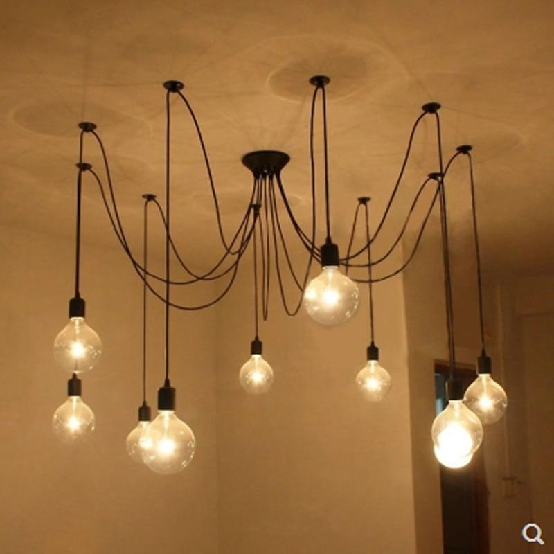 Mordern Nordic Retro Edison Lampa İşıq Çilçıraq Vintage Loft - Daxili işıqlandırma - Fotoqrafiya 4