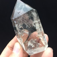 90g AAA Natural Clear Rock Reiki Quartz Crystal Minerals Product Green Phantom Polished Healing Point Wand