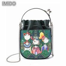 Nova cadeia de Mini Sacos de Ombro das Mulheres de Metal Bolsas de Mandíbula para Senhoras 3d Impresso sacos Crossbody bolsa feminina L77b