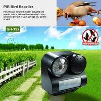 New Hot Humane Protective Black Ultrasonic Infrared Sound Flashlight Birds Repeller Driving Controller
