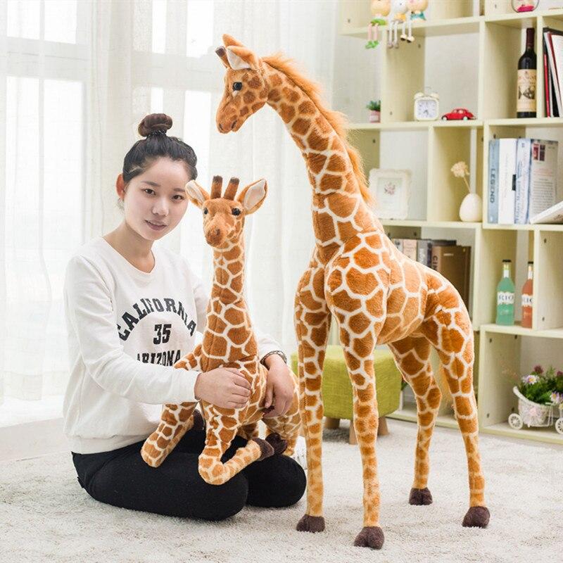 Huge Plush Lifelike Girafe Toy For Children Kids Birthday Gifts Stuffed Forest Reallife Animal Dolls Party Decoraton Plush Toys
