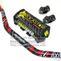 Black  Dirt Bike MotorCross Fat Bar  SOLID HANDLEBAR 1 1/8 in (28.6mm) Motorcycle Dirt Bike PRO 810mm Rockstar Pads 28mm Clamps