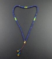 108 pierre perles avec tête de Bouddha mala collier bijoux de yoga méditation Prière perles artisanaux faits à la main Collier avec pierre