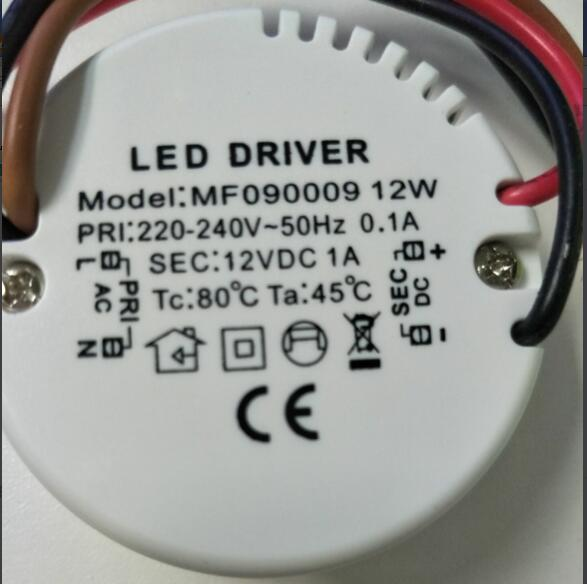 10pcs Round 12V 1A Constant Voltage Switching <font><b>Power</b></font> <font><b>Supply</b></font> 12W LED Driver 220V 240V Adapter CE Lighting Transformers image