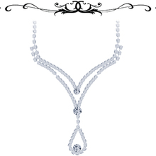 Elegant Female Crystal Necklace Pendant Fashion Lady Jewelry DIY Necklaces & Pendants Wedding Gift for Lover