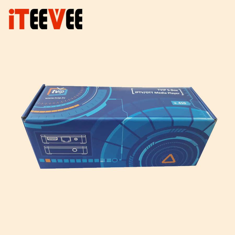 5 шт. Оригинальный мини набор верхней коробки TVIP коробка V410 V412 v415 Linux Android 4,4 двойная система H.265 четырехъядерный tvip 410 412 415