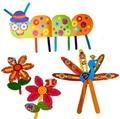9 Unids Niños DIY color palo de Helado pegatinas de papel de dibujos animados/Niños parvulario arte hecho a mano artesanal de juguetes educativos