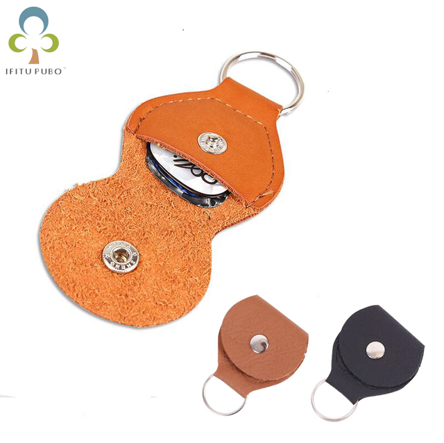 1Pc Leather Electric Guitar Pick Holder Case Bag Black and Brown Color Guitar Parts Accessories GYH YYY