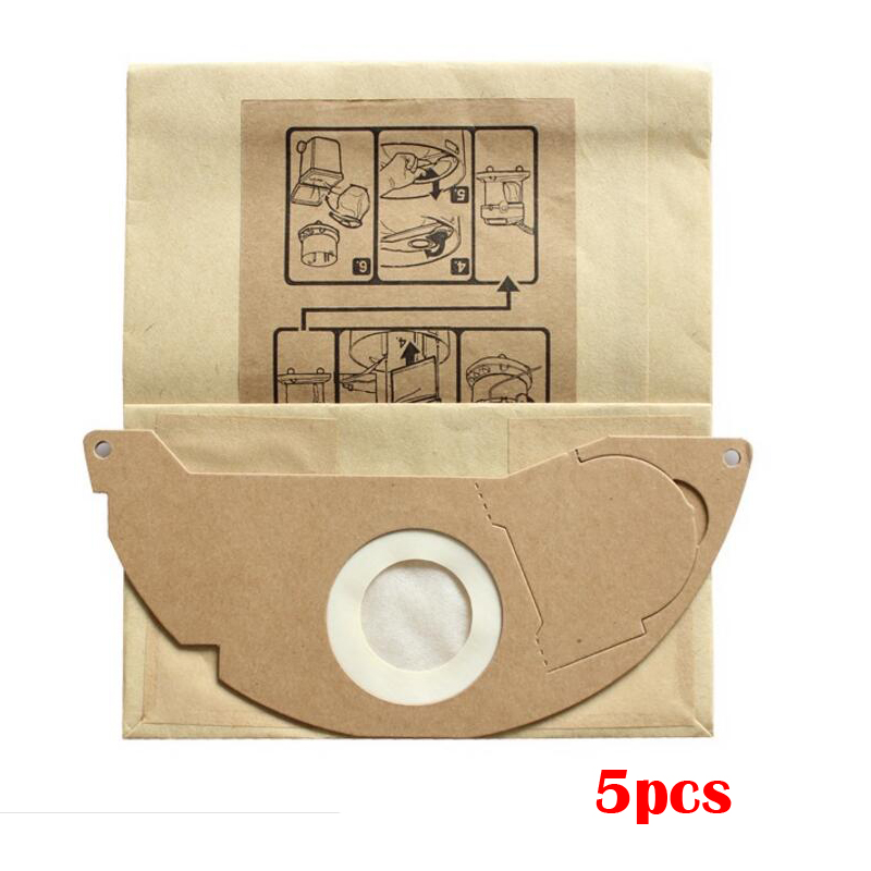 5 pcs/lot Vacuum cleaner bag hepa filter dust bag cleaner bags For KARCHER WD2250 A2004 A2054 MV2