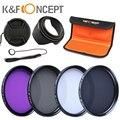 58mm UV CPL FLD ND4 Neutral Density Photography Lens Filter Kit For Canon EOS 600D 700D 100D 1100D 1200D 400D Nikon Sony DSLR