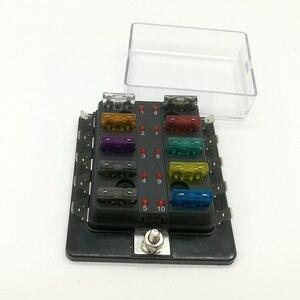Image 3 - 10 Way Circuit Blade Fuse Box Block Holder Met LED Waarschuwing Licht Kit Voor Auto Van Boot Marine Auto Zekering houder