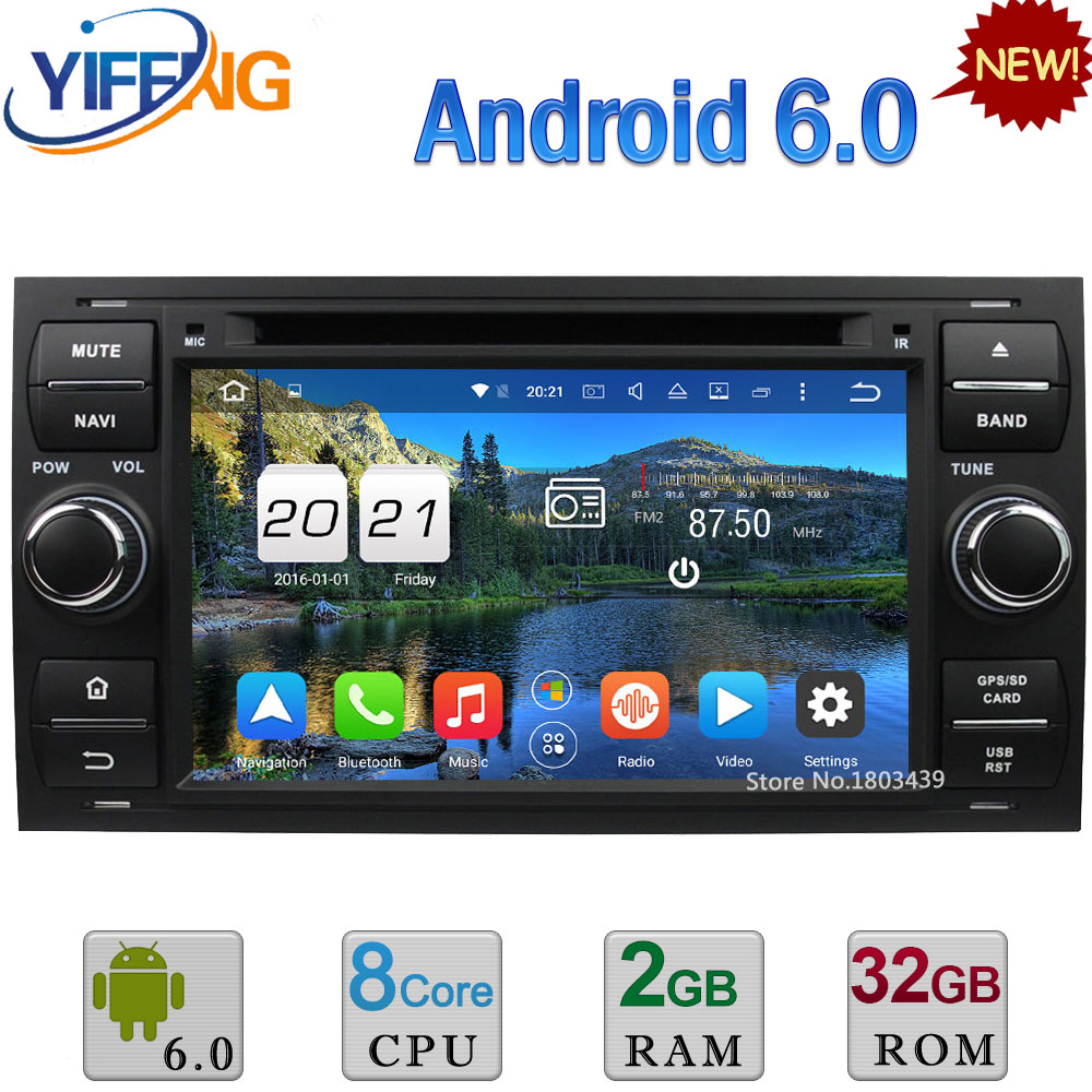 Octa Core 3G/4G Android 6.0 4GB RAM 32GB ROM DAB Car DVD Player Radio Stereo For Ford Focus Kuga Mondeo Connect GPS Navigation