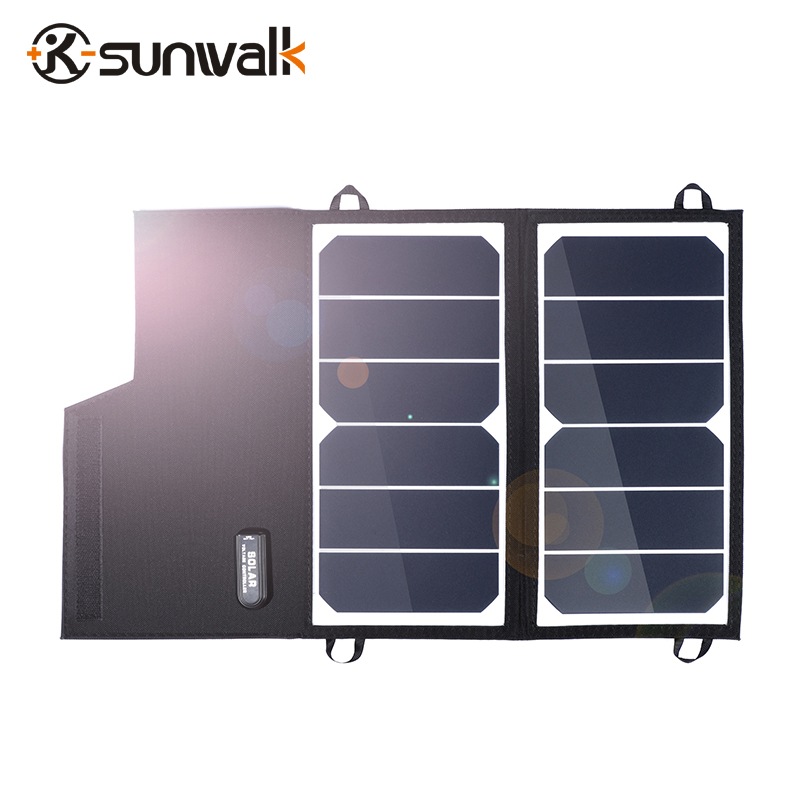 SUNWALK ELEGEEK 12W Solar Panels Portable Folding Foldable Waterproof Solar Panel Charger Power Bank for Phone Battery Charger 2018 sunpower 21w solar panels portable folding foldable waterproof solar panel charger power bank for phone battery charger