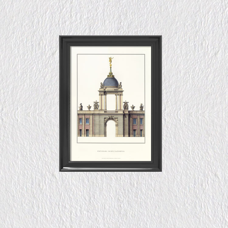 Architecture Buildings Poster Modern Home Decoration European Style Vintage Poster Canvas