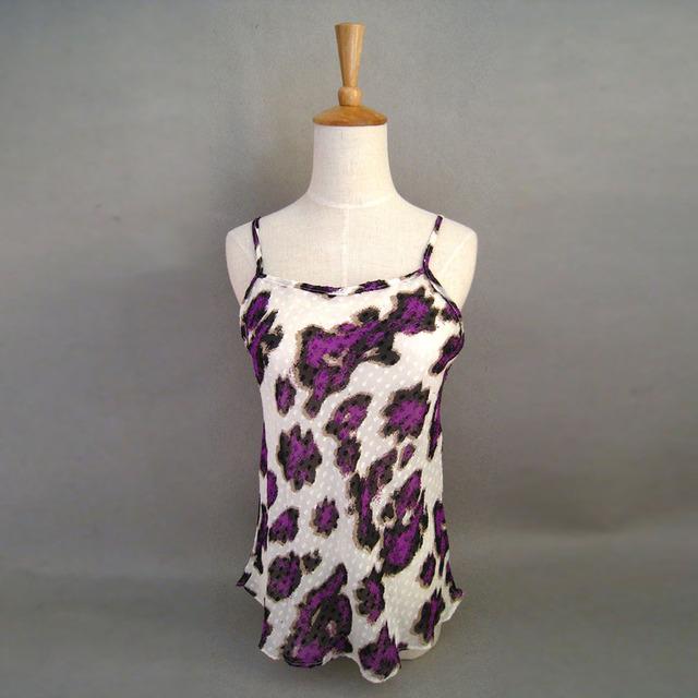 100% Chiffon De Seda Camisola de Seda Pura Natural De Seda da China Direto Da Fábrica Mulheres Tops Frete Grátis Flor Impressa