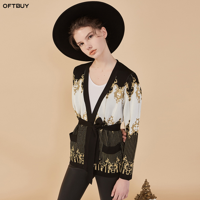 Oftbuy 2018 Spring Ladies Fashion Vintage Embroidery Pattern