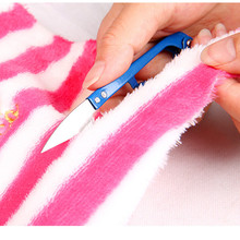 1pcs U Shape Clippers Sewing Trimming Scissors Nippers Embroidery Thrum Yarn Stainless Steel Tailor's Scissors Color Random