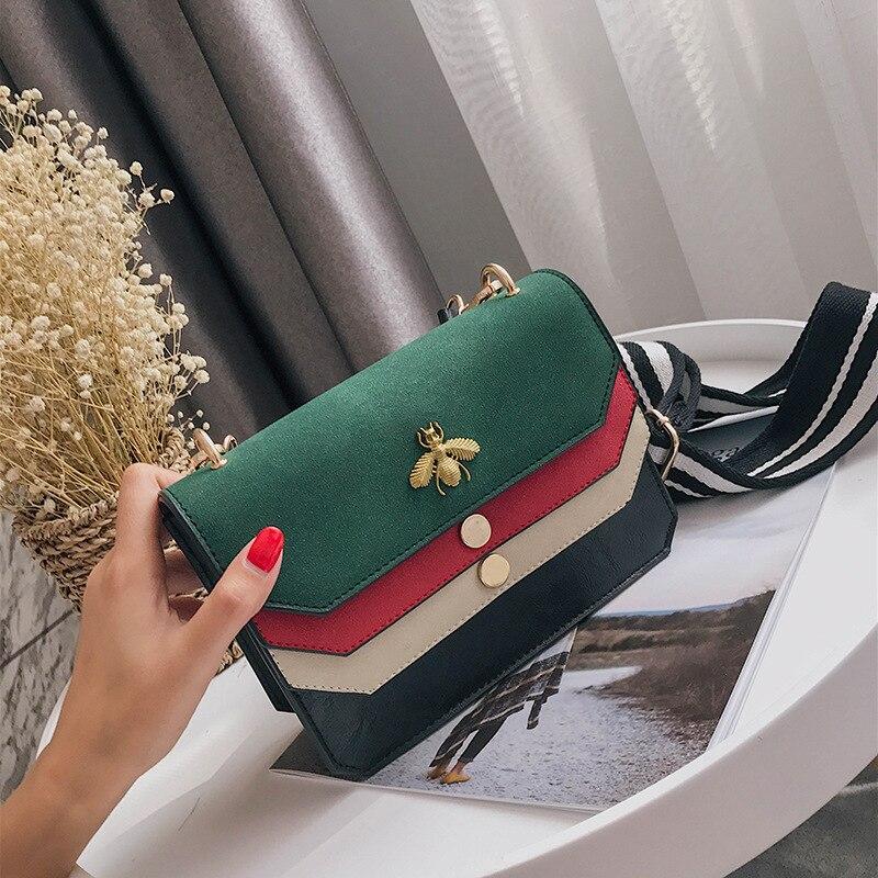women messenger bags Scrub Female Crossbody Bag Vintage Winter Colorful Strap small Shoulder Bag Flap famous brand 7V9263