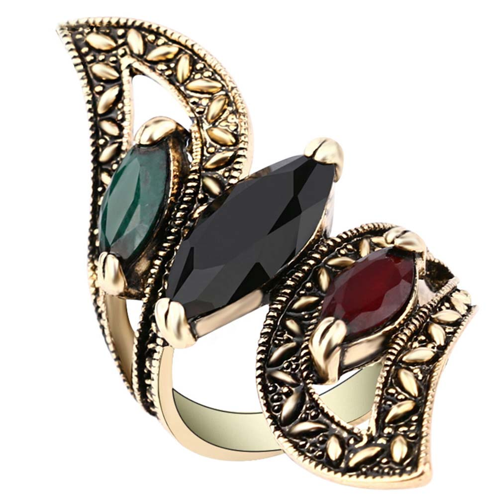 Zhefanku New Antique Tulips Design Rings Exquisite Jewelry Alloy Plating Gold Fineness Hot Ring