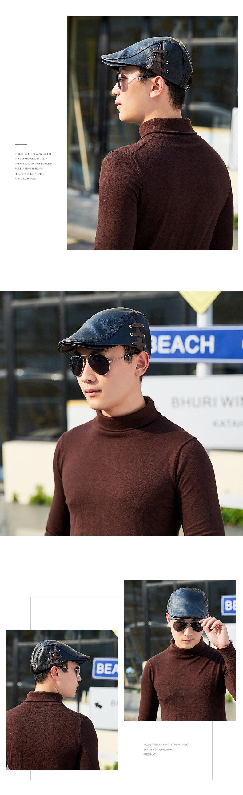TOHUIYAN de vendedor de tapa para hombres invierno cálido sombrero ... 0607d4006bd