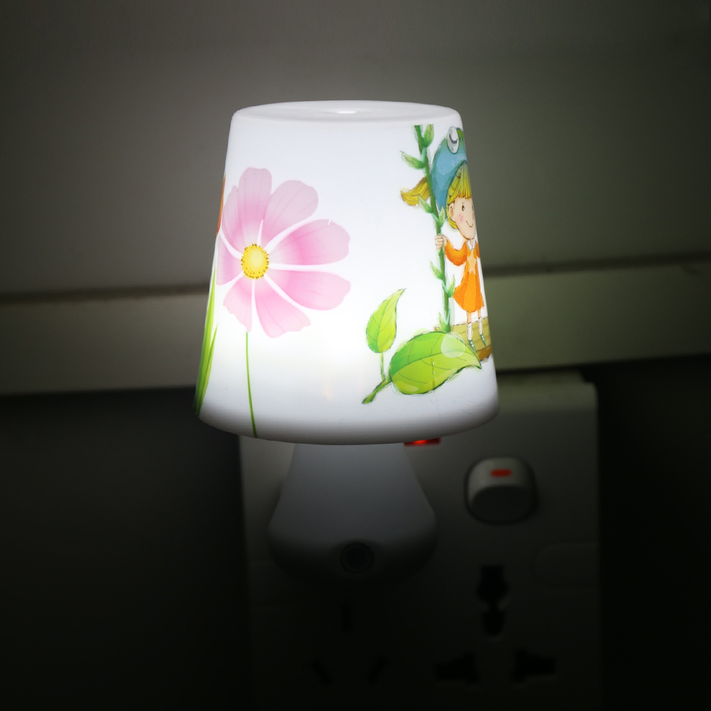EU US PLUG Led Night Light 0.5W AC220V Night Lights with a Remote Control Dimmer for Children Cartoon Night Lamp Bedroom