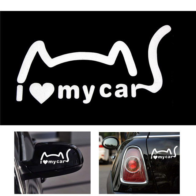 2016 rushed promotion the whole body i love my cars cute for cat funny car stickers