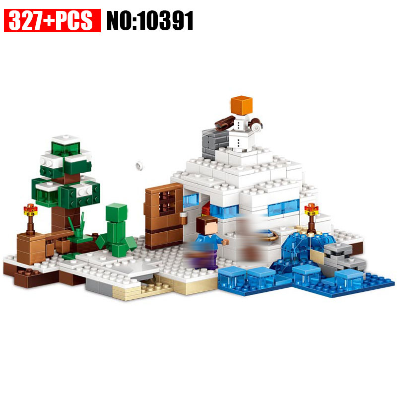 10391 my world series The Snow Hideout model Building Blocks set compatible With 21120 Classic education toys for children wange mechanical application of the crown gear model building blocks for children the pulley scientific learning education toys