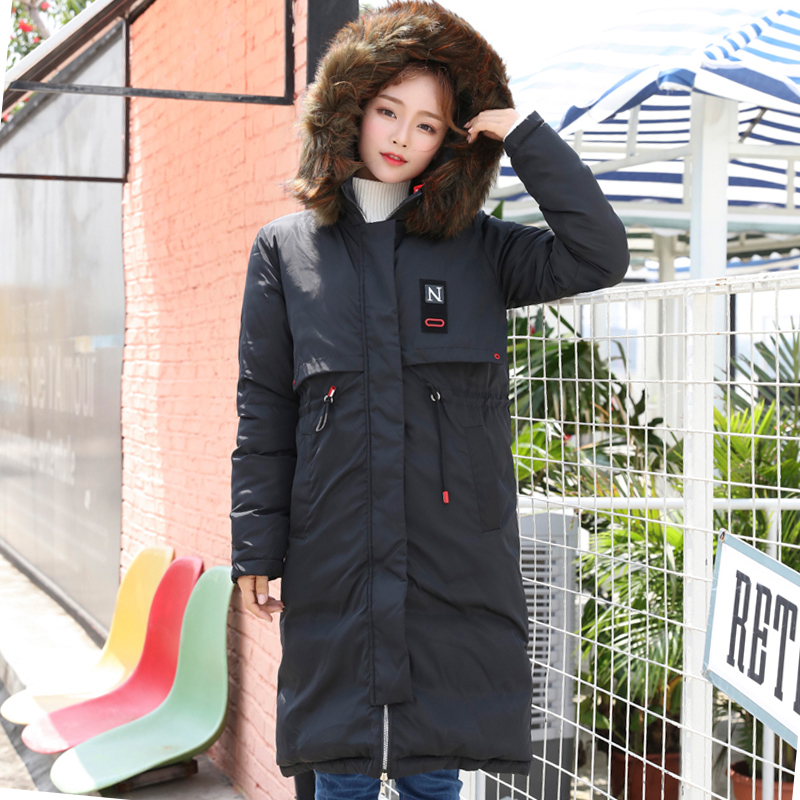 2019 New Arrival Both Two Sides Can Be Wore Winter Jacket Women Outwear Hooded With Fur Coat Long   Parka   Warm Womens Jackets