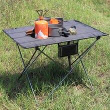 600Dオックスフォード生地のアルミ合金折りたたみ大小キャンプテーブル、軽量屋外ピクニック休暇