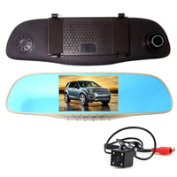 high quality HD Video Auto 4 LED Night Vision with Reverse CCD Car Rear View Camera With 5 inch Car Rearview Mirror DVR