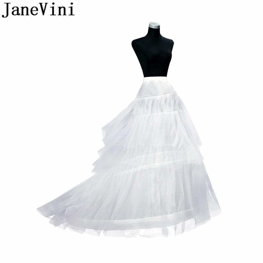 d8a6f2e00 JaneVini 3 aros enaguas Crinoline Falda larga Vintage aro novia enaguas  para vestidos de novia ropa ...