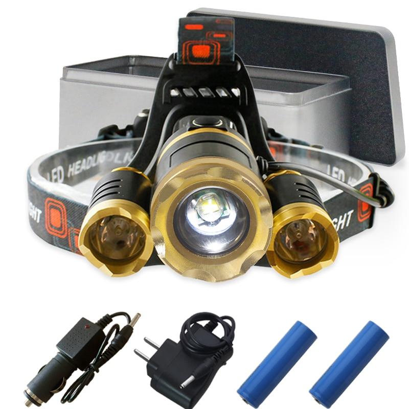 3t6 Led Scheinwerfer Cree Xm L T6 Kopf Lampe 20000 Lumen Wasserdicht Lichter Headlamp18650 Akku Kopf Taschenlampe