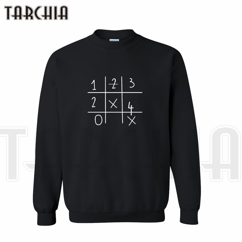 Tarchia New Brand Free Shipping Sudoku Print Funny Words Sweatshirt Personal Man Hoodies Casual Parental Survetement Homme Boy Catalogues Will Be Sent Upon Request Men's Clothing