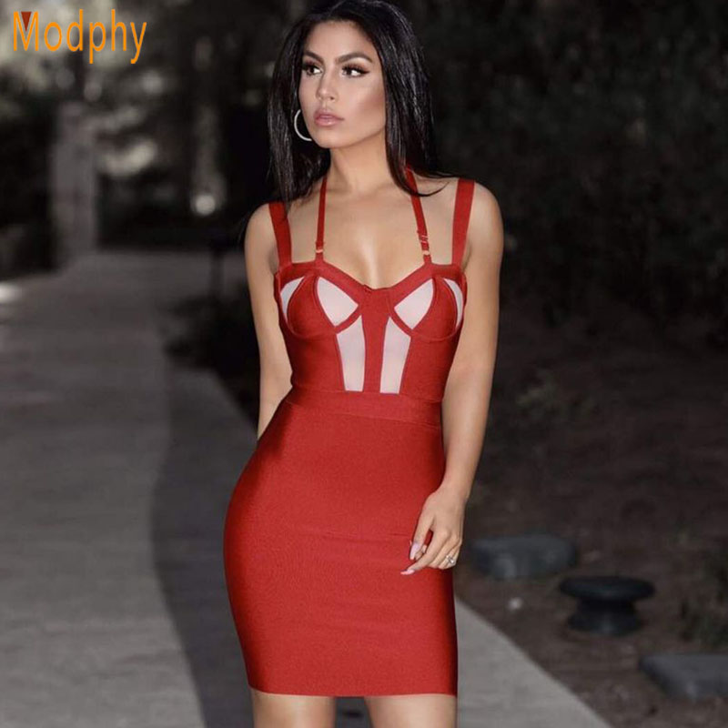 Nouvelles Spaghetti Noir Celebrity Strap Robe Sexy Backless Party Bandage Dropshipping Mini Ouvert Dos Md140 Halter Patchwork Femmes 2018 rouge sCxdrBthQo