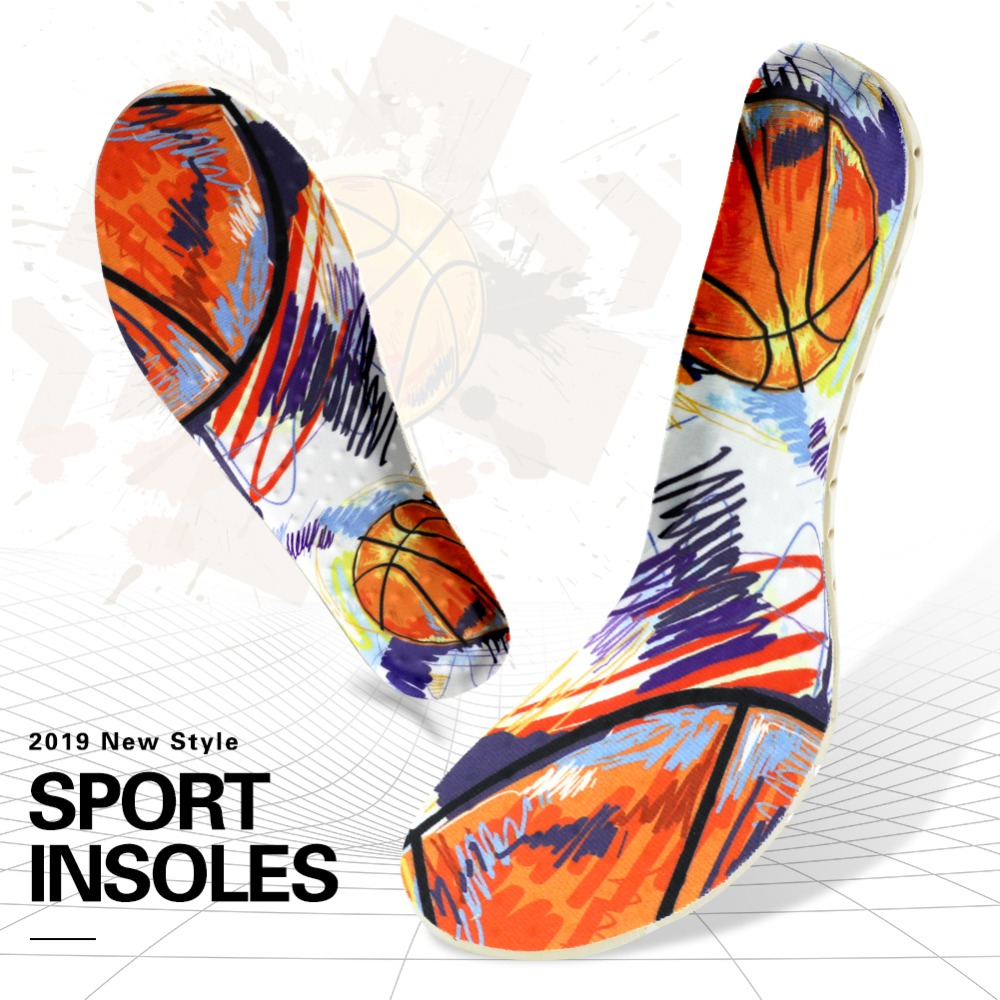 EVA Breathable Unisex Sports Insoles Insert Cushion Men Women Sport Foot Pad