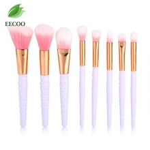 New 8pc maquiagem Pro makeup brushes set pink Nylon Hair Eyebrow Eyeshadow Powder Foundation Concealer blush make up brushes kit