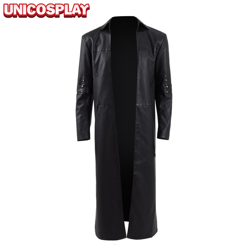 The Dark Tower Roland Deschain Jacket Cosplay Costume New Gunslinger Man Trench Long Black Coat Halloween Outfit