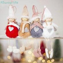 Christmas Decoration Pendant Cute Angel Plush Doll Tree Creative Charm