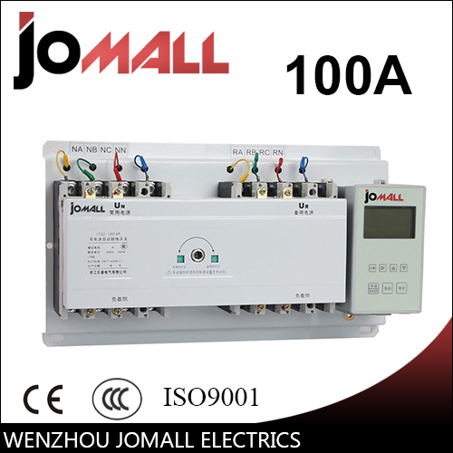 Jomall 100A 4 Poles 3 Phase Automatic Transfer Switch ats with English controller цена