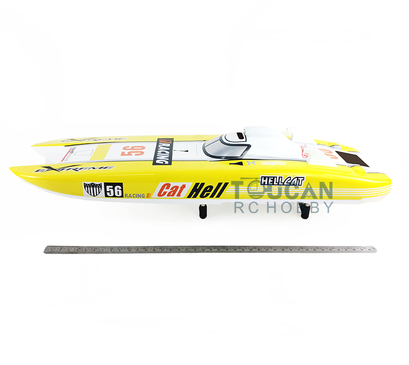 G30E KIT Fiber Glass Gasoline Racing Boat HULL only Yellow for Advanced Player цена