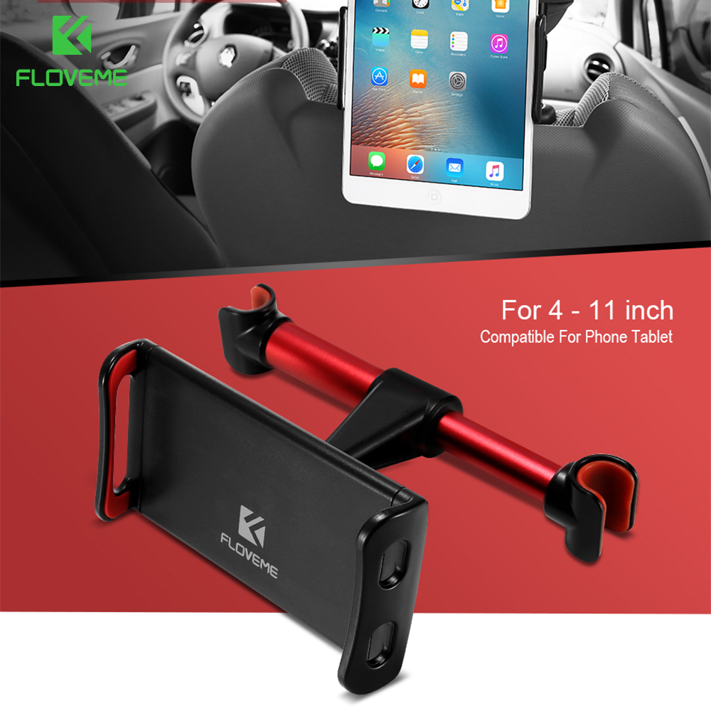 FLOVEME 4-11  For iPad Air 2 ipad 2 3 4 Mini 1 2 3 4 Universal Tablet Holder Car Back Seat Stand Support Bracket Mount Auto