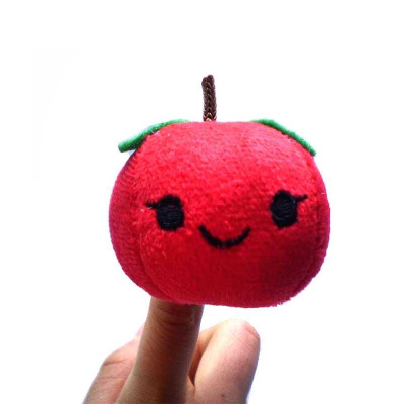 10 adet/takım Karikatür Meyve parmak kuklası s Sebze Bebek Sevimli Peluş parmak kuklası Ebeveyn-çocuk Etkileşimi Parti Bebek Eğitim Oyuncak