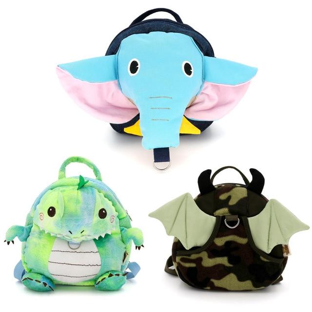 Fashion Kindergarten Baby Backpack Cute Animal Design Cartoon Elephant  Dinosaur School Bag for Boys Girls Children s Schoolbag 4a319ec2c17ea