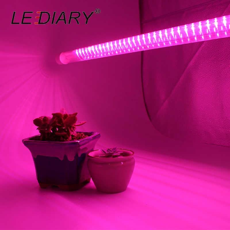 Светодиодный Светодиодный светильник для выращивания растений, ламповый аквариум, полный спектр, 50 см, светодиодный светильник 220 В для выращивания растений
