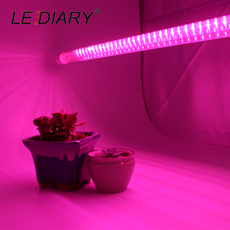 LEDIARY LED Plant Growth Lamp Aquarium lamp Full spectrum 50cm LED Tube 220V Grow Light For promote Potted Plant Growth Lamp renu dhupper plant growth under stress conditions