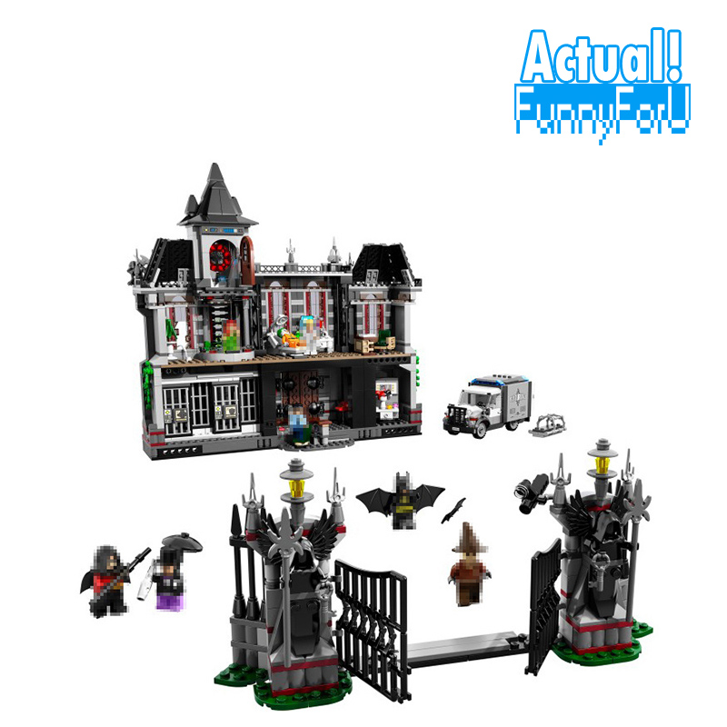 Batman Arkham Asylum Breakout 1685pcs Lepin DC 07044 Super Heroes Superhero Building Blocks Bricks Toys Compatible with 10937 new 1628pcs lepin 07055 genuine series batman movie arkham asylum building blocks bricks toys with 70912 puzzele gift for kids