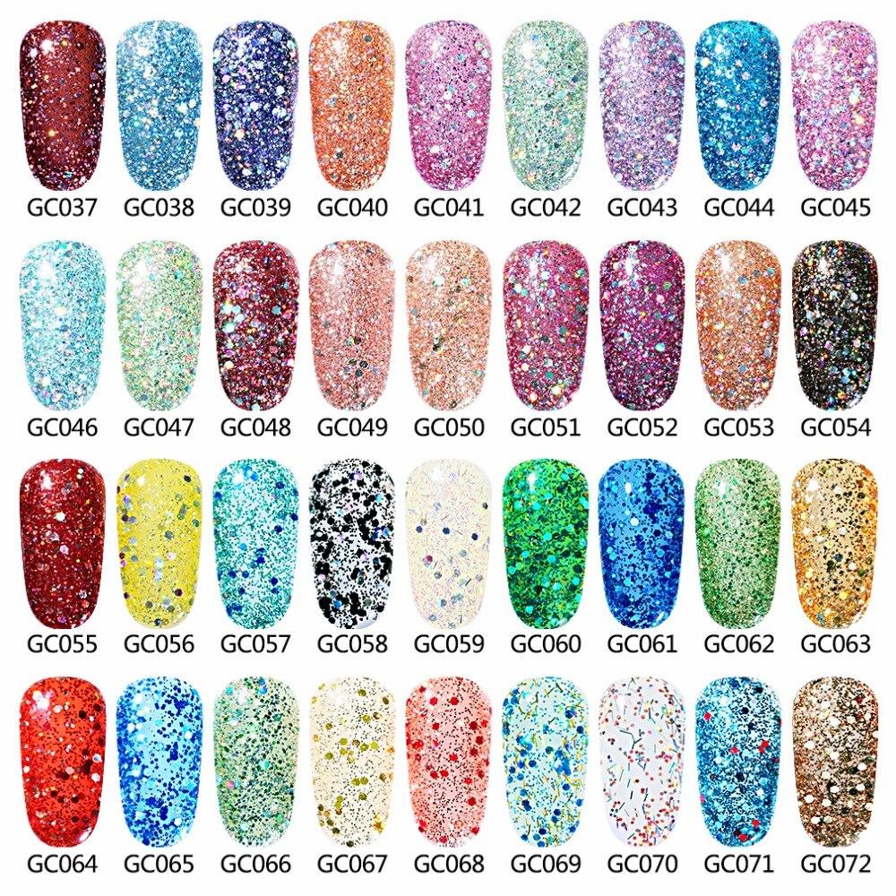 Elite99 10 ml Bling Kleur UV Nail Gel Polish Diamant Glitter ...