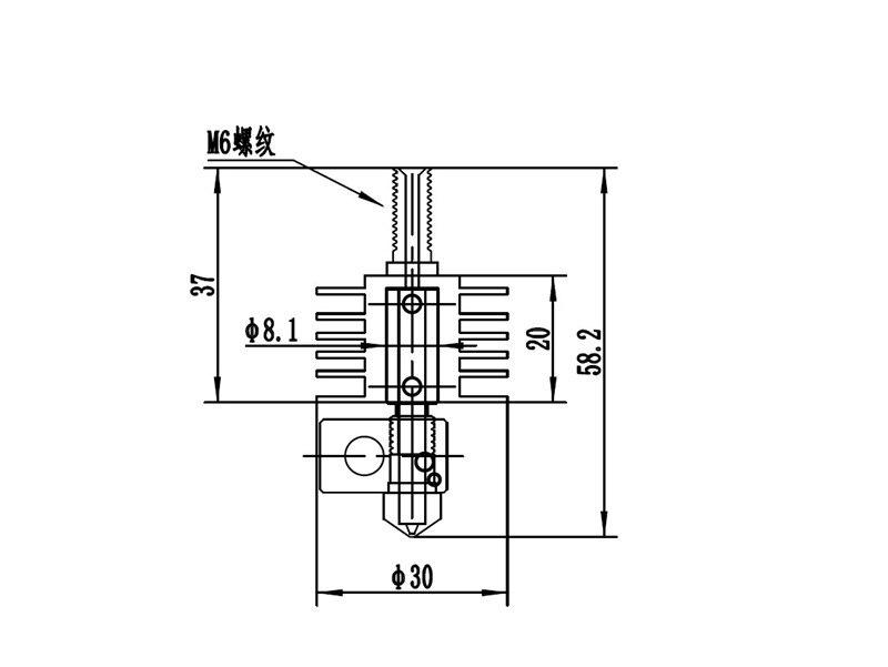 Impressora de Reprap 3D MK8 extrusora hotend